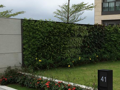 groene gevel plantenwand mobilane live panel living wall system