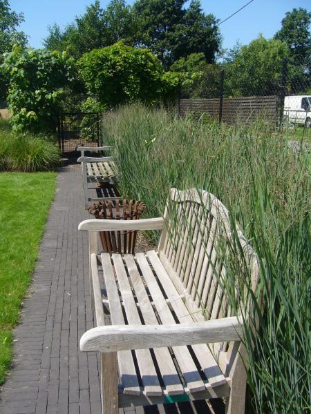 tuinbank tuinpad plantenborder