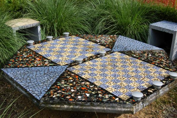 schaaktafel in mozaik